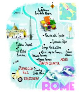 Rome tour map